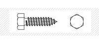 Саморез по металлу с шестигранной головой (DIN 7976 C)