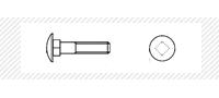Болт с квадратным подголовником (DIN 603)