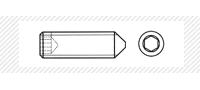 Винт установочный с коническим концом (DIN 914)