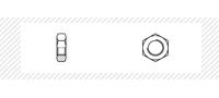 Гайка шестигранная низкая (DIN 439B)