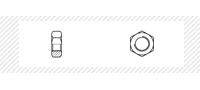 Гайка шестигранная класс прочности 6  (DIN 934)
