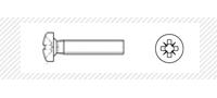 Винт метрический с цилиндрической головой  (DIN 7985)