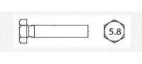 Болт класс прочности  5.8 с основным шагом резьбы (DIN 931; 933)