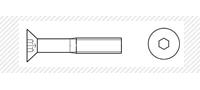 Винт класс прочности 10.9 (DIN 7991)