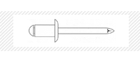 Заклепка AL/ST окрашенная RAL (DIN 7337)