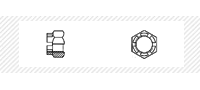 Гайка корончатая класс прочности 8 (DIN 935)
