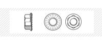 Гайка с буртиком (с фланцем) класс прочности 8 (DIN 6923)