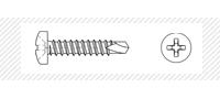 Винт самосверлящий с полукруглой головой (DIN 7504 N)
