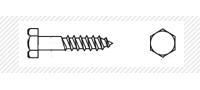 Шуруп для дерева с шестигранной головой (DIN 571)