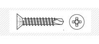 Винт самосверлящий с потайной головой (DIN 7504P; DIN 7504 N)