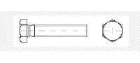 Болт метрический c шестигранной головой  (DIN 931; 933)