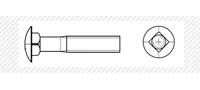 Болт мебельный с основным шагом резьбы (DIN 603)