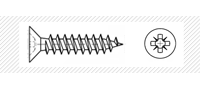 Саморез по металлу с потайной головой (DIN 7982)