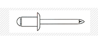 Заклепка A2/A2 (DIN 7337)