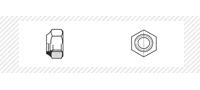 Гайка самоконтрящаяся класс прочности 10 (DIN 985)