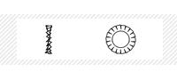 Шайба стопорная (DIN 6798А)