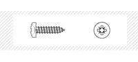 Саморез по металлу с цилиндрической головой (DIN 7981)