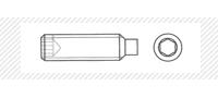Винт установочный с цилиндрическим концом (DIN 915)