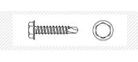 Винт самосверлящий с шестигранной головой кровельный (DIN 7504 K)